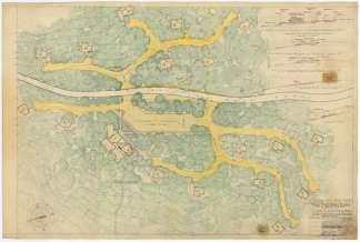 Caddo Lake State Park - Plot Plan for Cabins, Roads, and Parking Areas - SP.40.10
